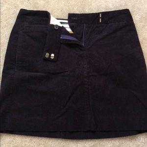 Jcrew Purple Corduroy Mini Skirt